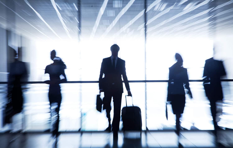 Embarquement pour le voyage d'entreprise