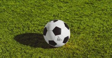 Un ballon de football sur du gazon